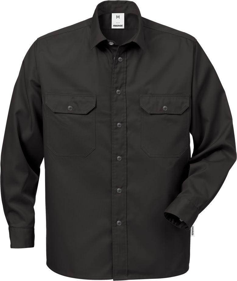 Fristads Men's Skjorta bomull 720 BKS, Svart