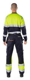 Flamestat high vis long sleeve t-shirt class 1 7107 TFL 7 Fristads Small