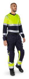Flamestat high vis long sleeve t-shirt class 1 7107 TFL 5 Fristads Small