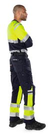 Flamestat high vis long sleeve t-shirt class 1 7107 TFL 6 Fristads Small