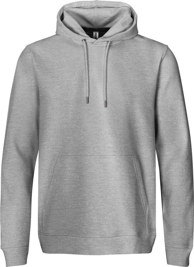 Fristads Men's Acode sweatshirt med huva 7736 SWB, Ljusgrå