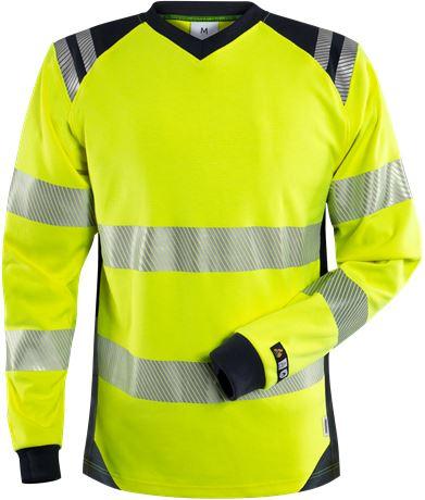 Flamestat high vis long sleeve T-shirt woman class 3 7357 TFL 1 Fristads