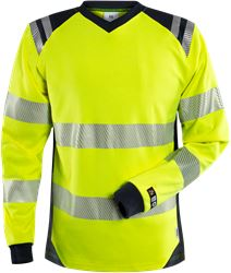 Flamestat high vis long sleeve T-shirt woman class 3 7357 TFL Fristads Medium