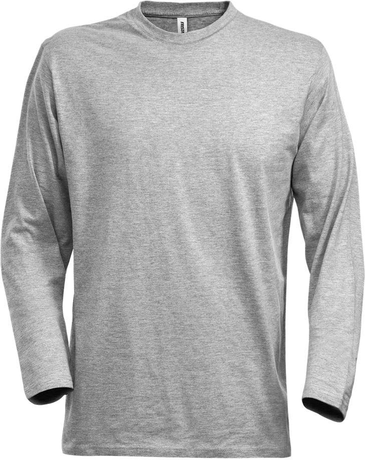 Fristads Men's Acode långärmad T-shirt 1914 HSJ, Ljusgrå