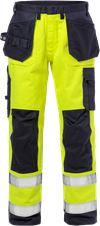 Flame Hi Vis håndværker bukser kl.2 2584 FLAM 1 Fristads Small