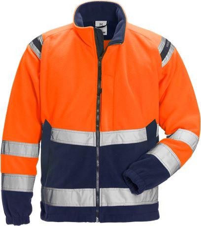 Hi Vis vindtæt fleece jakke kl.3 4041 1 Fristads