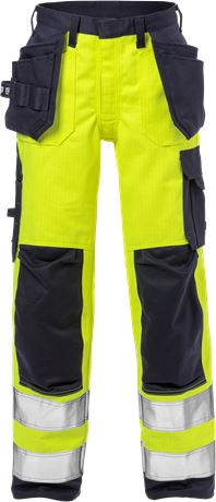 Flame high vis craftsman trousers woman class 2 2589 FLAM 1 Fristads