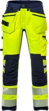 Høy synlighet stretch Håndverkerbukser cl 2 2707 PLU 1 Fristads Small
