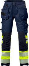 High vis craftsman stretch trousers woman class 1 2709 PLU 1 Fristads Small
