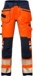 Pantalon d'artisan stretch femmes haute visibilité classe 2 2710 PLU Fristads Medium