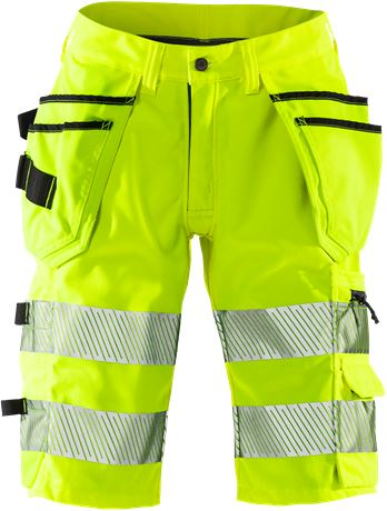 High Vis Stretch-Shorts, Damen Kl.1 2529 PLU 1 Fristads