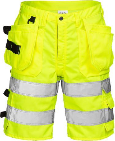 Hi Vis håndværker shorts kl.2 2028 1 Fristads