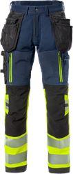 Hi Vis håndværker stretch bukser kl.1 Fristads Medium