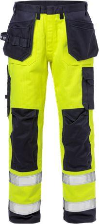 Flame Hi Vis håndværker bukser kl.2 2584 FLAM 1 Fristads