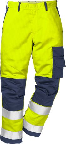 Flame high vis trousers cl 2 2042 FBPA 1 Fristads Kansas  Large
