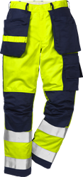 Flame high vis craftsman trousers cl 2 2050 FBPA Fristads Kansas Medium