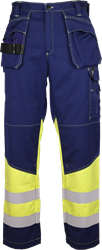 Trousers with tool pockets, HiVis and FR 203800-AC-011 Leijona Medium