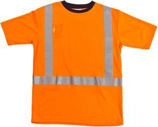 T-paita heijasteilla HiVis Leijona Solutions Medium