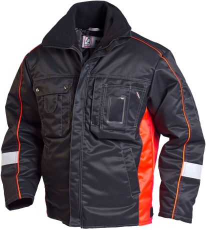 Winter Jacket ProX, black/fl.red 336821-077 1 Leijona Solutions  Large