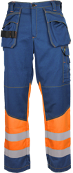 Trousers with tool pockets, HiVis and FR 203800-AC-727 Leijona Medium