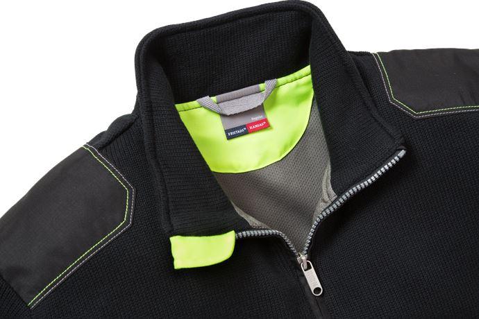 Stickad tröja 7100 BLK 4 Fristads Kansas  Large