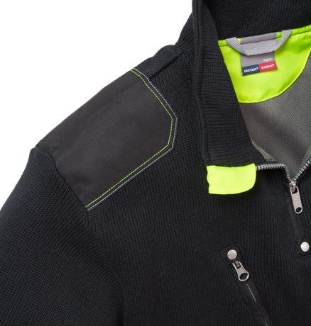 Stickad tröja 7100 BLK 3 Fristads Kansas  Large