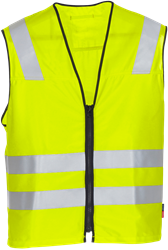 Flame high vis waistcoat cl 3 5303 FSH Fristads Kansas Medium