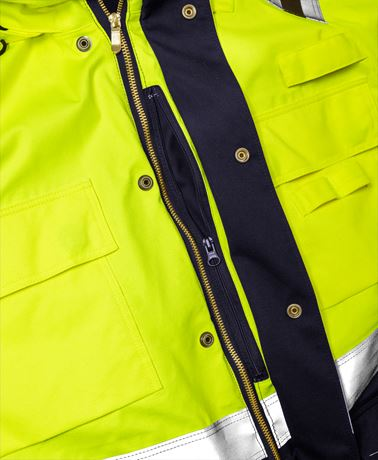 Flamestat High Vis Winterparka Kl. 3 4086 ATHR 3 Fristads  Large