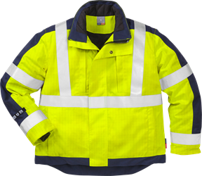 Flame high vis winter jacket cl 3 4852 FWA Fristads Kansas Medium