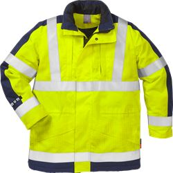 Flame high vis winter parka cl 3 4853 FWA Fristads Kansas Medium