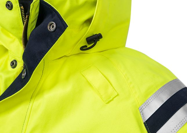 Flamestat High Vis Winterparka Kl. 3 4086 ATHR 4 Fristads  Large