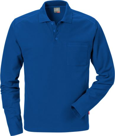 Long sleeve polo shirt 7393 PM 1 Kansas  Large