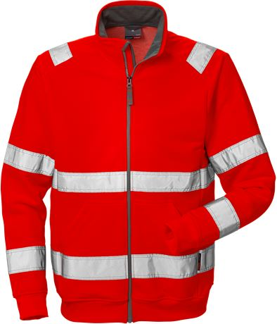 High vis sweat jacket cl 3 7410 BPV 1 Fristads Kansas  Large