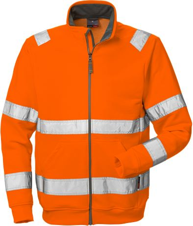 Hi Vis sweat jakke kl.3 7410 1 Fristads Kansas  Large