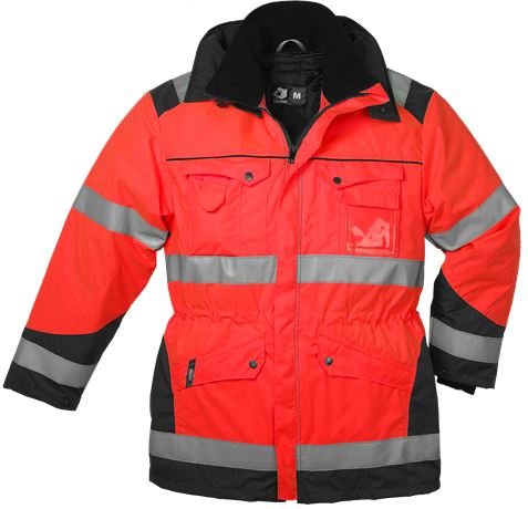 Winter Parka Detachable Lining HiVis 1.0 2 Leijona  Large