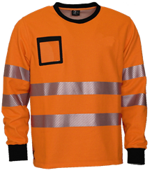 College shirt, FR, HiVis, antist. Leijona Medium