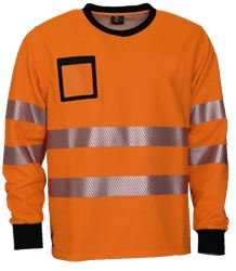 College Shirt FR HiVis antist. Leijona Medium