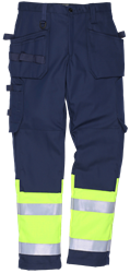 Trousers with tool pocket, High Vis and FR Leijona Medium