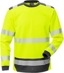 High Vis T-Shirt Langarm Kl. 3 7089 THV Kansas Medium