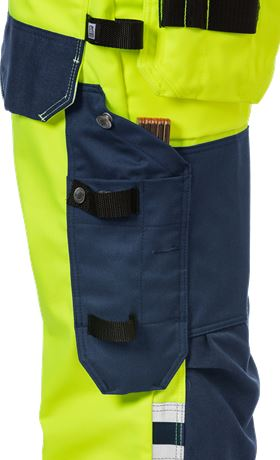 High Vis Handwerker Stretch-Hose Damen Kl. 2 2613 PLUS 5 Fristads  Large