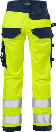 High Vis Handwerker Stretch-Hose Damen Kl. 2 2613 PLUS 3 Fristads  Large