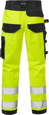 High vis craftsman stretch trousers class 2 2612 PLUS 3 Fristads  Large