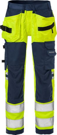 High Vis Handwerker Stretch-Hose Damen Kl. 2 2613 PLUS 2 Fristads  Large