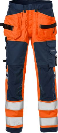 High vis craftsman stretch trousers class 2 2612 PLUS 2 Fristads  Large