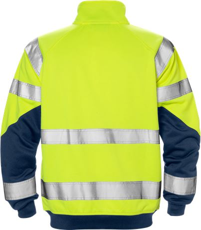 Hi Vis sweat jacket cl. 3  2 Kansas  Large