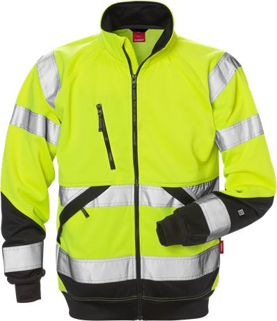 High Vis Sweatjacke Kl. 3 7426 SHV 1 Kansas  Large