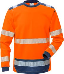 Hi Vis t-shirt langærmet kl. 3, Safesoft Kansas Medium