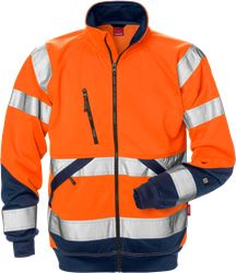 Hi Vis sweat jacket cl. 3  Kansas Medium