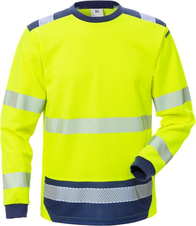 High Vis T-Shirt Langarm Kl. 3 7089 THV 1 Kansas  Large