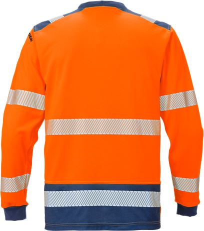 High Vis T-Shirt Langarm Kl. 3 7089 THV 4 Kansas  Large